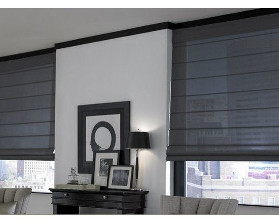 Roman Shades- 3 Day Blinds- Living Room -