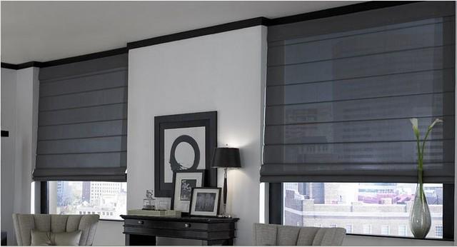Roman Shades- 3 Day Blinds- Living Room roman-shades