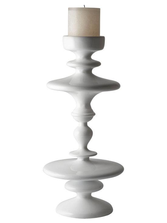 White Aluminum Pillar Holder -