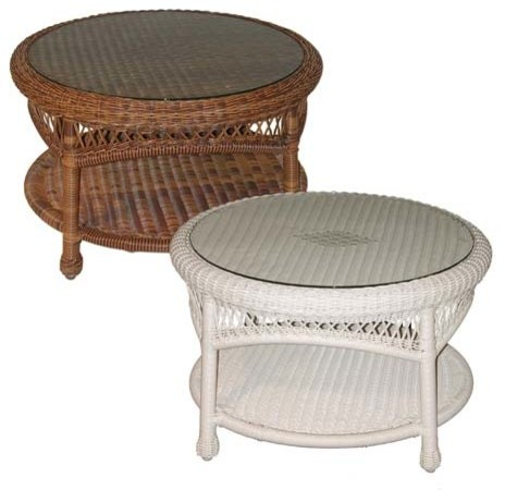 Wicker Sands Round Coffee Table Contemporary Coffee Tables
