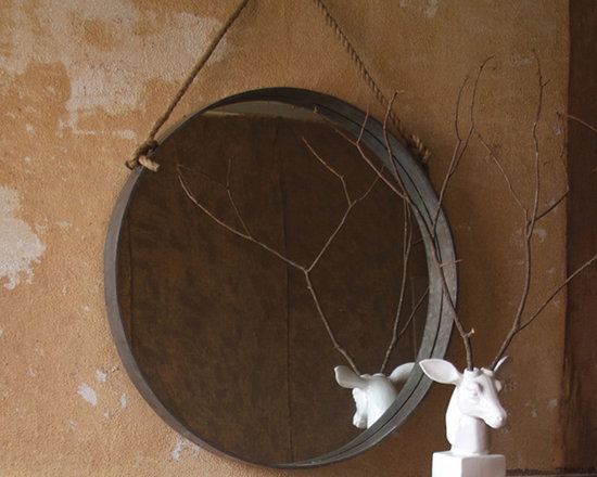Large Round Mirror with Rope - These unique, hand-crafted accessories are imported from small cottage industries in Colombia, Honduras, Haiti, Morocco, and more.