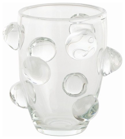 Arteriors Poppy Tall Clear Glass Vase Contemporary Vases Charlotte By The Classy Cottage
