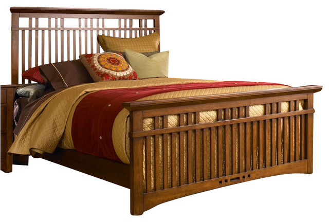 Broyhill Artisan Ridge Slat Bed in Warm Nutmeg traditional-beds