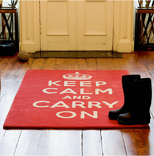 Keep Calm and Carry On Rug contemporary rugs