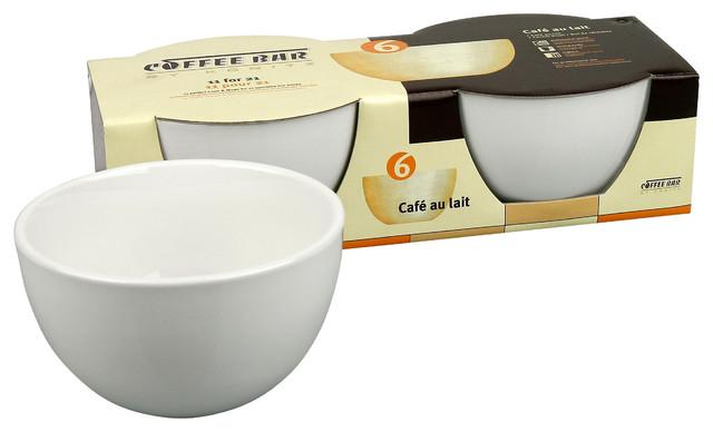 S/2 Cafe au Lait Bowls traditional-mugs