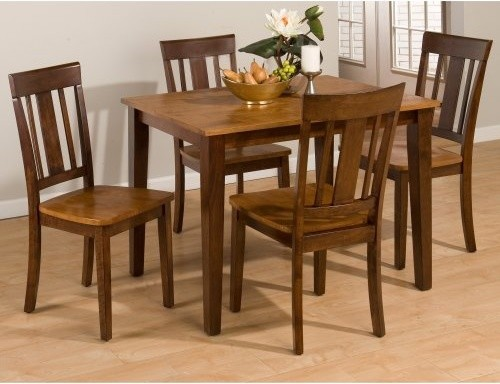 Jofran Kura Canyon 5 Piece Small Dining Table Set Modern
