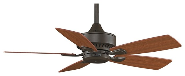 "Transitional 42"" Fanimation Cancun Oil-Rubbed Bronze Ceiling Fan traditional-ceiling-fans"