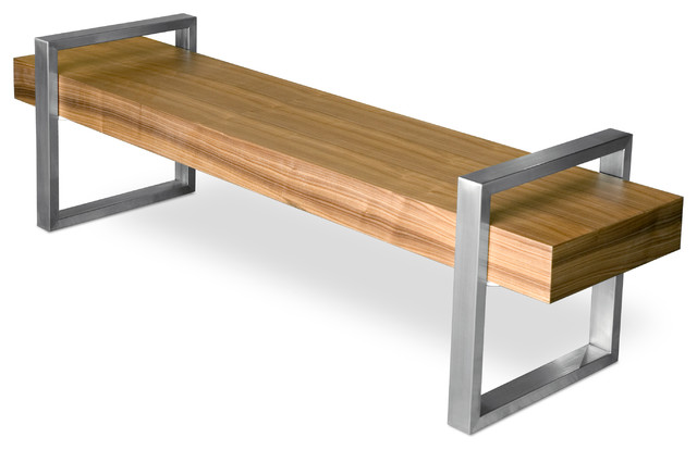 Gus Modern Return Bench Walnut Indoor Benches