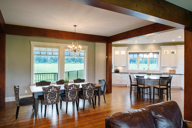 Traditional Timber Frame - Custom Home traditional-dining-room