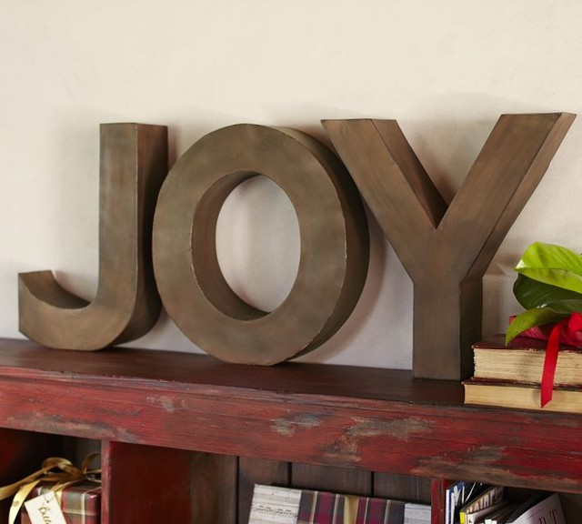 Joy Letters contemporary holiday decorations