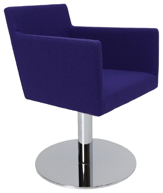 Harput Round Swivel Arm Chair by sohoConcept contemporary-dining-chairs