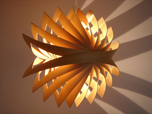 Japanese lights asian pendant lighting vancouver by kozai modern - Paper lighting fixtures ...
