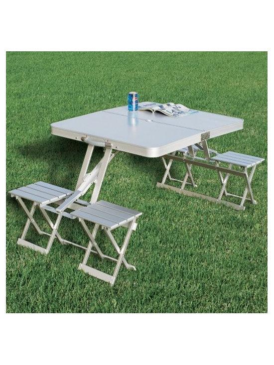 Folding Aluminum Picnic Table -