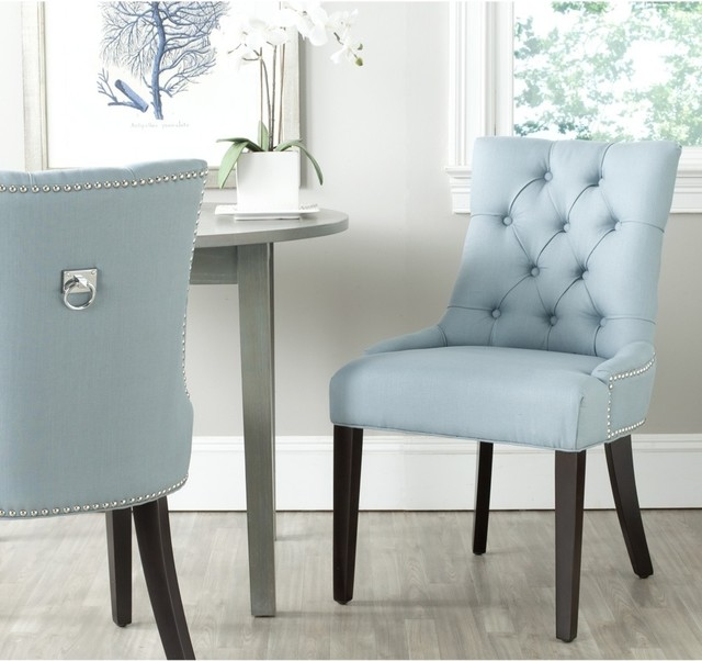 harlow light blue ring chair set of 2 contemporary dining chairs