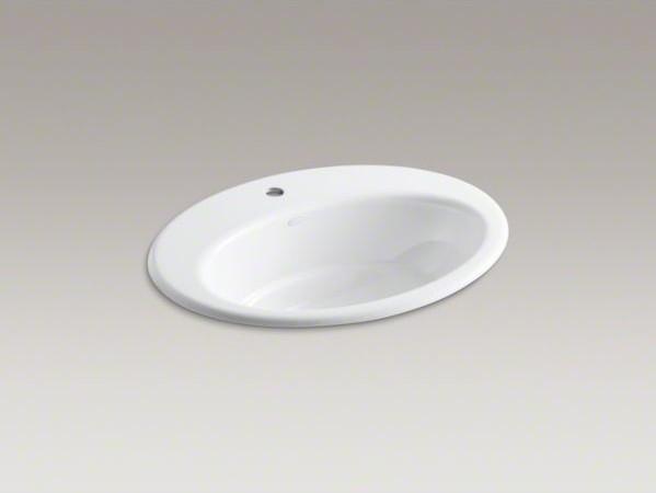 KOHLER Thoreau(R) drop-in bathroom sink with single faucet hole contemporary-bathroom-sinks