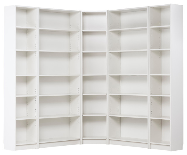 Billy Corner Combination, White - Modern - Bookcases - by IKEA