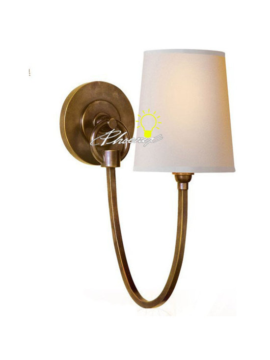 Antique Country Capper and Fabric Wall Sconce - Antique Country Capper and Fabric Wall Sconce