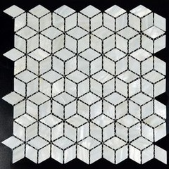 Home Elements Mother of Pearl Tile - shell tiles - pearl tiles - kitchen tiles -