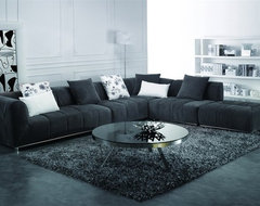 Black Fabric Sectional Sofa modern sectional sofas