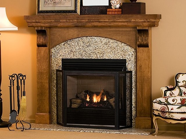 Webster Wood Fireplace Mantel Traditional Fireplace