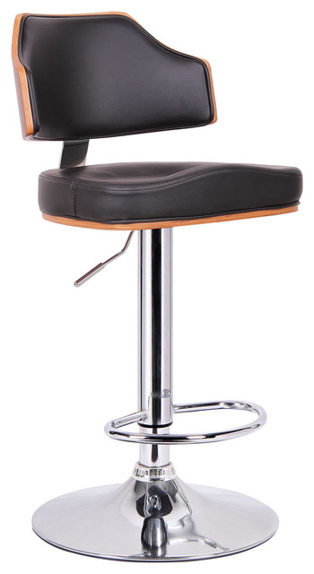 Baxton Studio Cabell Walnut and Black Modern Bar Stool contemporary-bar-stools-and-counter-stools