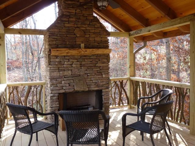 Mountain Ridge Ledge Stone Fireplace