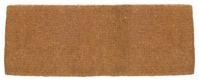 Blank Extra Thick Hand Woven Coconut Fiber Doormat (Estate 36x72 Size) traditional-doormats