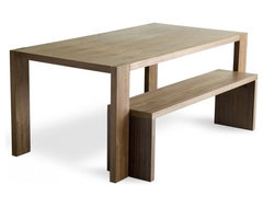 Gus Modern Plank Dining Table and Bench modern-dining-tables