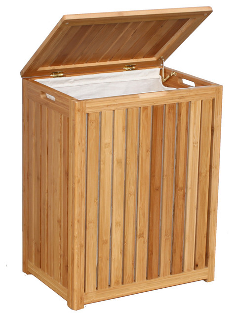 Oceanstar Spa-Style Bamboo Laundry Hamper BRH1248 contemporary-hampers