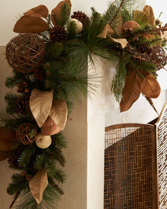 Equestrian Christmas Garland traditional holiday decorations