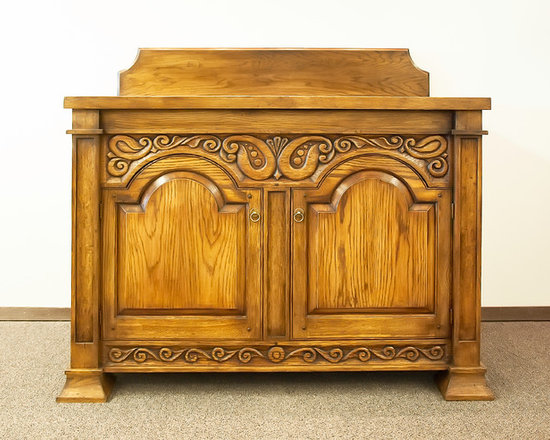 Russian Folk Style Hand-Carved Vanity Base from Heirloom Russian Forest -