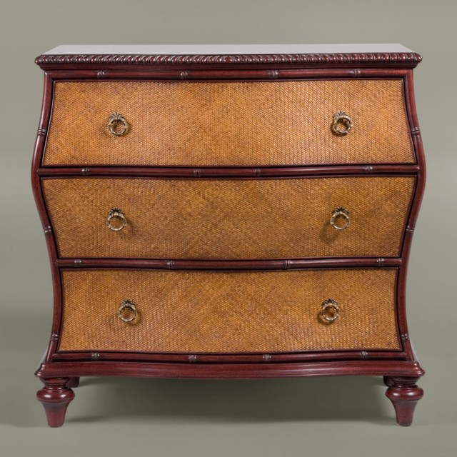 British Classics Woven Rattan Bombe Chest Traditional Accent Chests And Cabinets