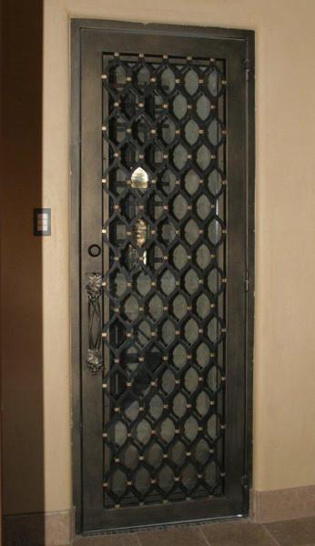 Single Iron Doors