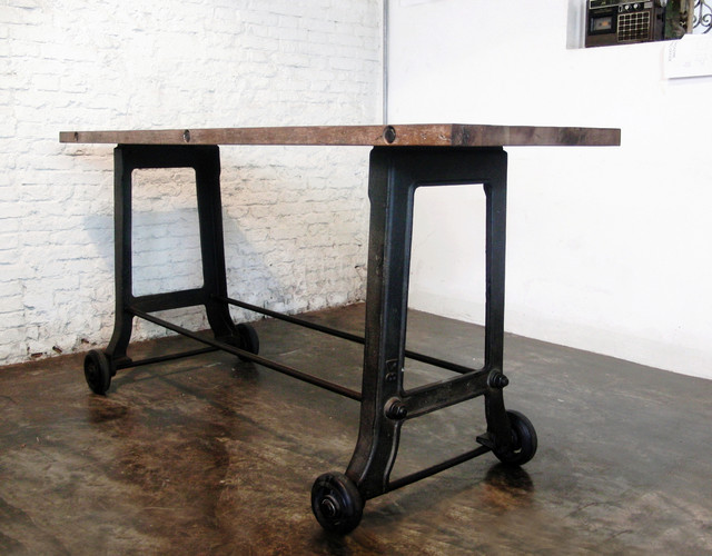 V17 Rolling Reclaimed Wood Bar - Modern - Indoor Pub And Bistro Tables ...