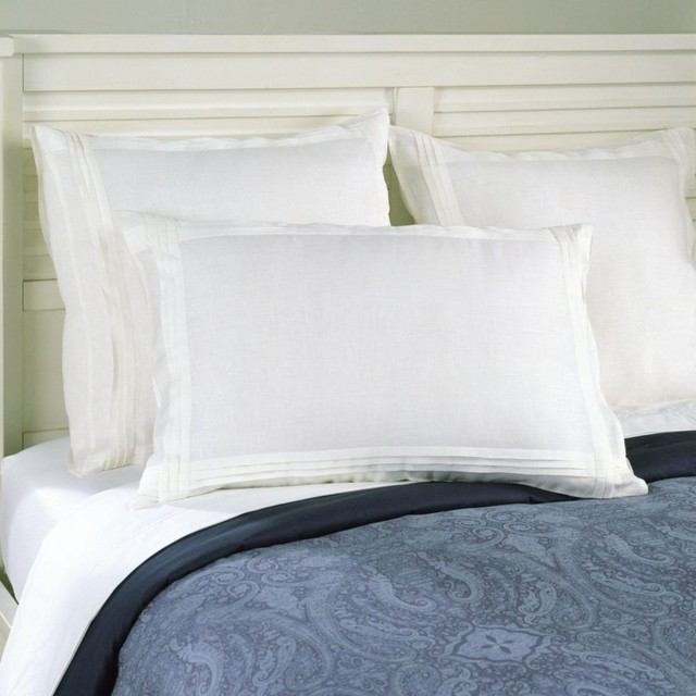 linen pleated sham traditional-pillowcases-and-shams