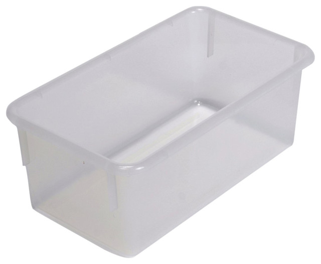 """Steffywood Home Plastic Storage Box Cabinet Opaque Clear Tray 13""""L X 8""""W X 5""""H contemporary ..."""
