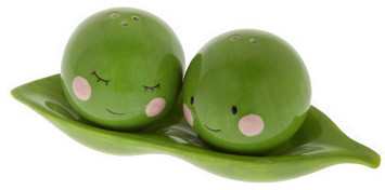 Peas Pass the Salt and Pepper Shakers contemporary-salt-and-pepper-shakers-and-mills