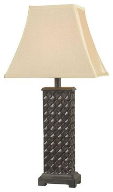 Kenroy-32192MB-Woven - One Light Table Lamp(Pack of 2) transitional-table-lamps