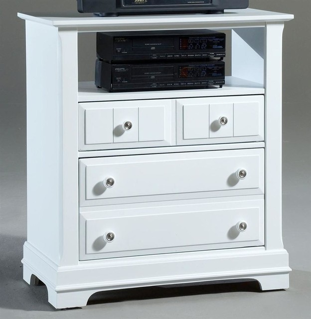2-Drawer Media Chest in Snow White Finish - Contemporary - Entertainment Centers And Tv Stands ...