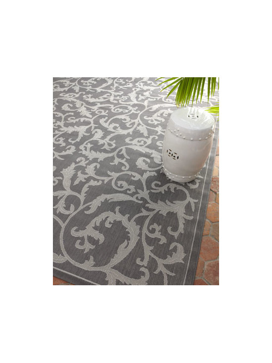 "Safavieh - Safavieh ""Trellis Work"" Rug, 5'3"" x 7'7"" - Introduce glamour indoors or out with this rug's gorgeous damask pattern. Made of polypropylene. Size is approximate. Imported."