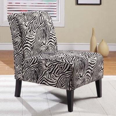 Lily Slipper Chair Black White Zebra Modern Chairs