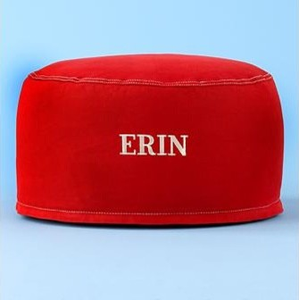 Kids Personalized Red Cotton One Seater Bean contemporary-kids-chairs