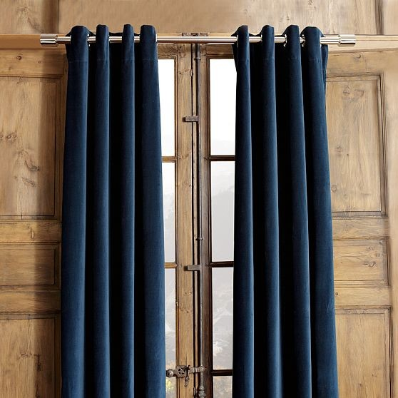 Velvet Grommet Window Panel modern curtains