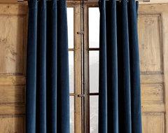 Velvet Grommet Window Panel modern-curtains