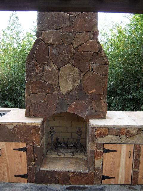 Outdoor Kitchens and Fireplaces - traditional - patio - houston ...