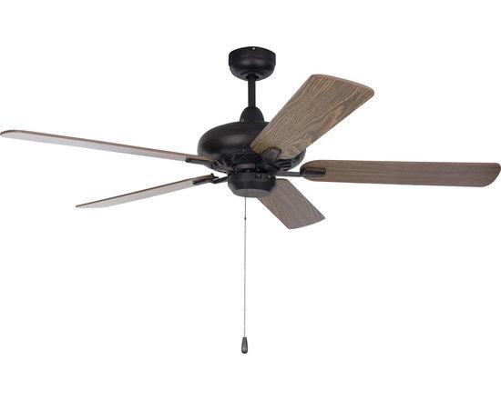 "Super-Max-Indoor Ceiling Fan - Super-Max 52"" Ceiling Fan Maple/Walnut Blades"