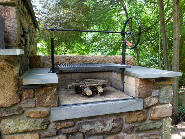 Solebury Wood Burning Brick Oven And Argentinian Grill