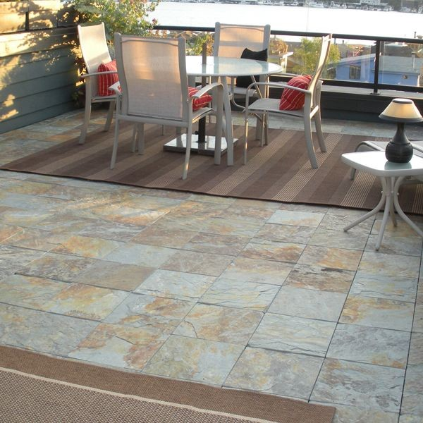 Outdoor Slate Floor Tiles Wall And Floor Tile Chicago By Home
