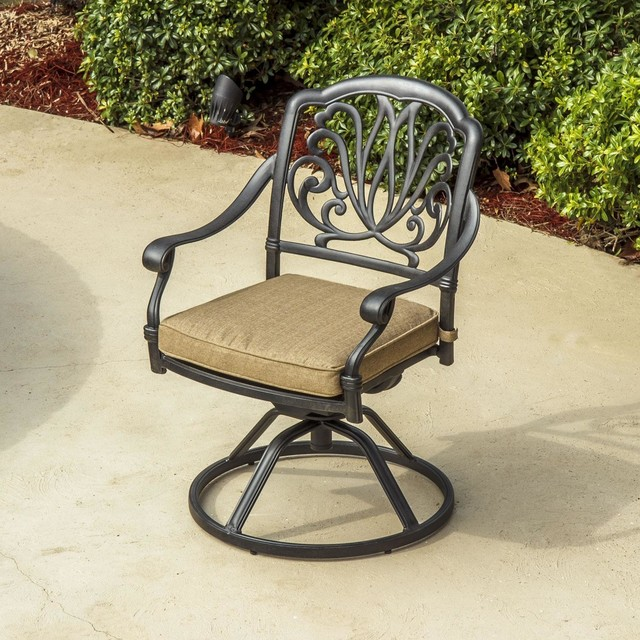 Rosedown Cast Aluminum Swivel Rocker Patio Dining Chair Modern Outdoor Di