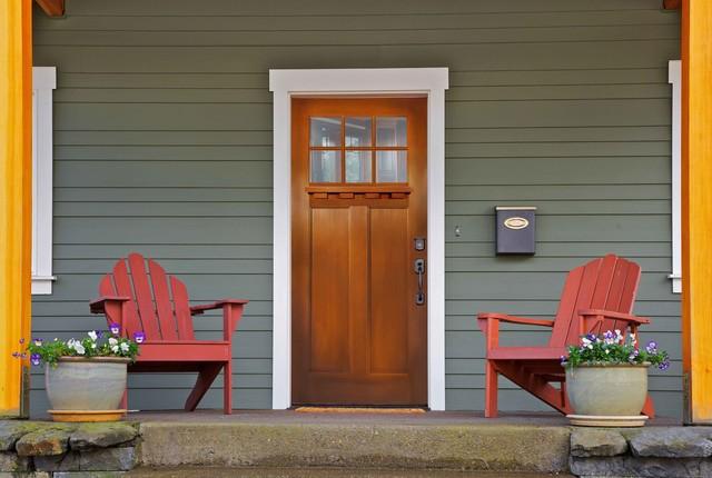 Fir Grain  Fiberglass Door traditional-front-doors